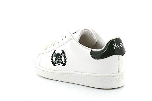 Mujer Cordones Zapatilla Con Sneakers verde Revolution Xyon Deportiva Turtle Blanco w0YyqT