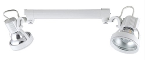 (Jesco Lighting HMH903T4NF39-S Contempo 903 Series Metal Halide Track Light Fixture, T4 24-Degree Narrow Flood, 39 Watts, Silver Finish)