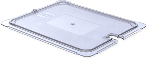 Carlisle 10237U07 StorPlus Half Size Polycarbonate Universal Flat Surface Notched Food Pan Lid, Clear