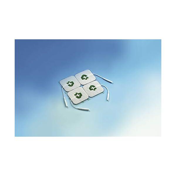 TESMED 12 elettrodi di qualità Superiore mm. 50x50, universali, Adatti a Tutte Le Marche di elettrostimolatori con cavetti a spinotto da 2 mm, Lavabili, Non Necessitano di Gel 2 spesavip