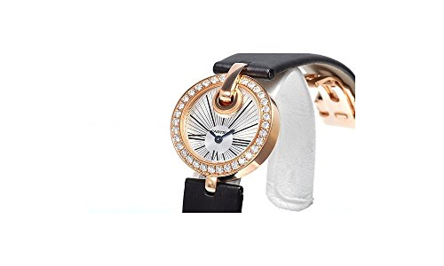 Cartier Captive Silver Dial Brown Satin Strap Diamond Ladies Watch WG600007