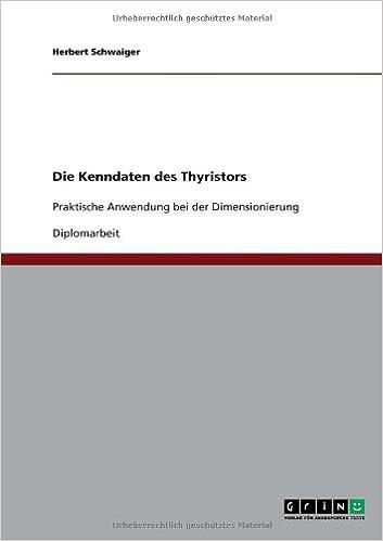 Book Die Kenndaten Des Thyristors