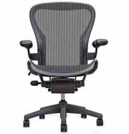 Amazon.com Aeron Chair by Herman Miller - Basic Home Office Desk Task Chair with Classic Dark Carbon Mesh No Lumbar Back Support Cushion Graphite Frame ...  sc 1 st  Amazon.com & Amazon.com: Aeron Chair by Herman Miller - Basic Home Office Desk ...