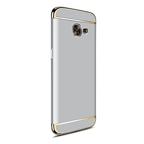 MOBICLONICS® Electroplated Hard Back Case Cover for Samsung Galaxy J7 Prime Siver