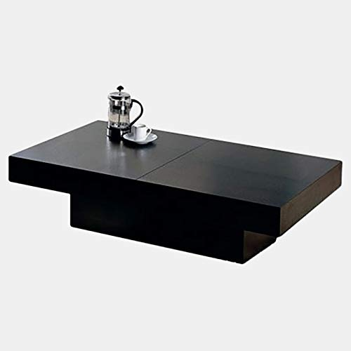 Wood Coffee Table with Interior Storage - Coffee Table with Gloss Finish - Wenge 48' Wicker Coffee Table