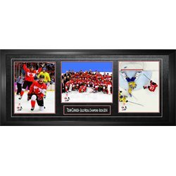 2014 Olympic Gold Medal - Team Canada - Framed Triple 8x10 2014 Olympics Gold Medal Champions