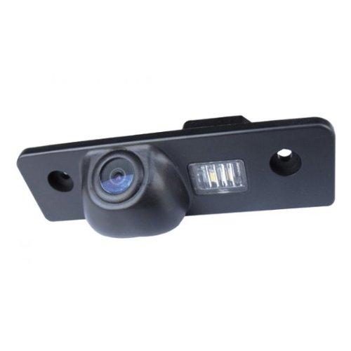 CAM19 Color Vista posterior de la c/ámara c/ámara de visi/ón trasera con l/íneas de cuadr/ícula como luz de la matr/ícula,ayuda sensor de aparcamiento para SKODA Octavia II