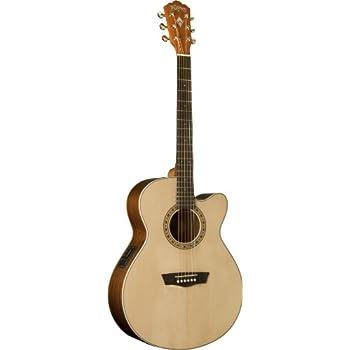 washburn comfort series usm wcg20sce acoustic electric guitar natural musical. Black Bedroom Furniture Sets. Home Design Ideas