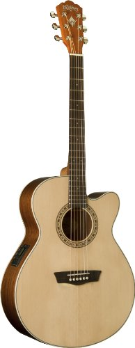 - Washburn Harvest Series WG7SCE Acoustic-Electric Guitar, Natural Gloss