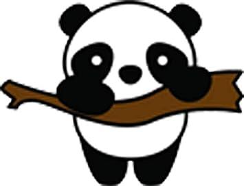 Amazon Com Cute Sweet Simple Baby Panda Bear On Branch Kawaii Cartoon Icon Vinyl Sticker All Sizes Panda Bear Arts Crafts Sewing