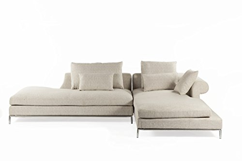 Control Brand The Scandicci Sectional Sofa, Beige, 26.38*120*74.8