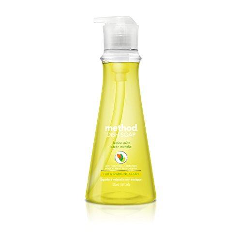 Method Dish Soap, Lemon Mint, 18 Ounce (Pack 2)