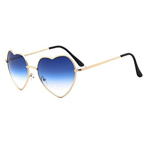 Meyison Retro Heart Shaped Sunglasses Hippie Lovely Aviator Style Eyewear (Gold ()