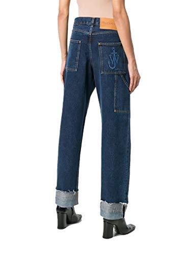W J ANDERSON TR00418D134870 Jeans Femme Bleu Coton Cdg7qdrx