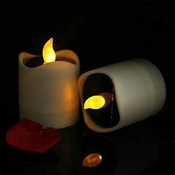 Liu Sensen Halloween Llevó Velas Luz LED Solar Vela Batería ...