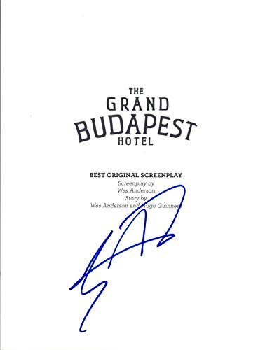 Tony Revolori Signed Autographed THE GRAND BUDAPEST HOTEL Movie Script COA VD from Unknown