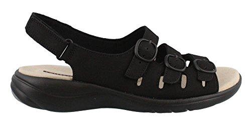 Nubuck Negro Sandalias para Cuarzo Clars Saylie black de Mujer 8wnqzUn