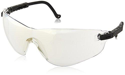 Uvex S4504 Falcon Safety Eyewear, Black Frame, SCT-Reflect 50 Ultra-Dura Hardcoat Lens