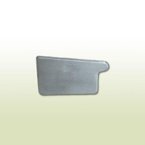 Zink Steckrinnenboden halbrund RG 333 mm links