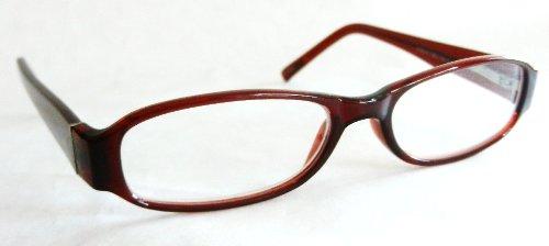 (2 PACK) Foster Grant +1.25 Mauve Brown Plastic Frame Reading Glasses (179) - Frame Mauve Lenses
