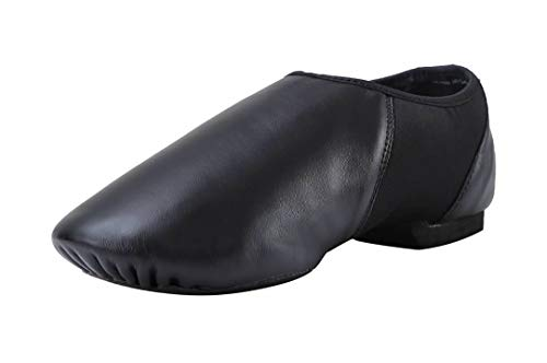Pegasus galaxy Modern Leather Slip On Jazz Shoe (Little Child) Black -
