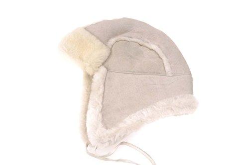 Tanforan Cypress New Unisex Mens Womens Sheepskin Lambskin Winter Aviator Hats Fur Lining L Grey