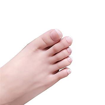 Amazon.com: 24 uñas postizas francesas para dedos de los ...
