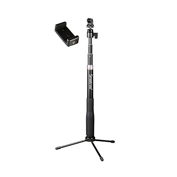 Smatree SmaPole Q3 Telescoping PoleSelfie Stick with Tripod Stand for GoPro Hero 543321Session Camerasfor
