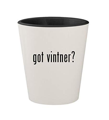 got vintner? - Ceramic White Outer & Black Inner 1.5oz Shot Glass