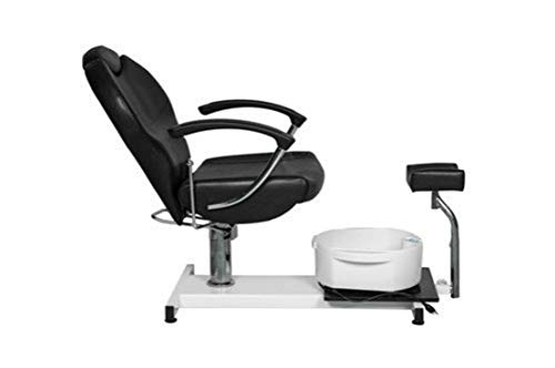 Salon Style Nail Pedicure Stool Pedicure Chair Pneumatic, Adjustable, Rolling Salon Furniture & Equipment Pedicure Station Foot Massage Chair (black)