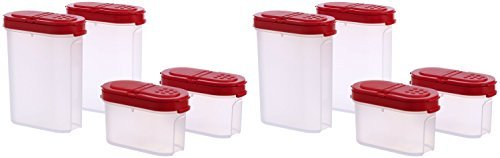 (Tupperware Modular Mate Spice Shaker Set (8) red)
