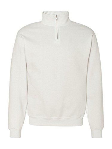 Jerzees Adult NuBlend Quarter-Zip Cadet Collar Sweatshirt, White, XXX-Large ()