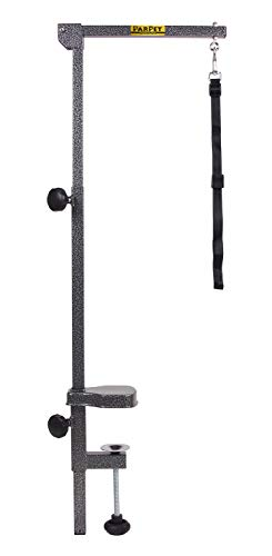 PARPET DA305 Foldable Grooming Arm with Clamp + Adjustable Grooming Loop, Hammertone