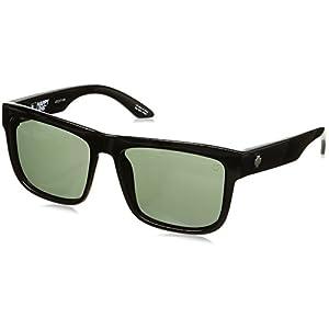 Spy Optic Discord Flat Sunglasses, Black/Happy Gray/Green, 57 mm