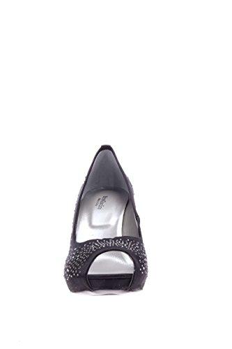 Nero Giardini mujer exterior en punta plateau P615370DE 100-plateau con exterior en punta de satén negro