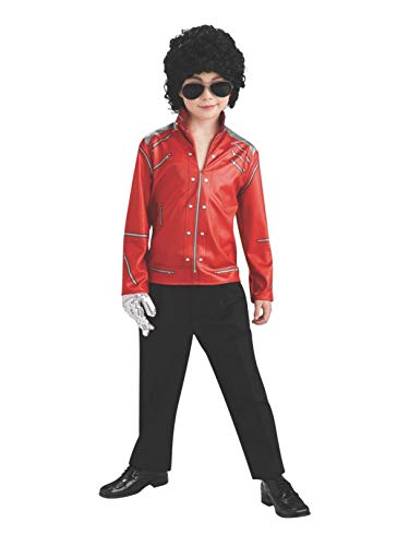 Michael Jackson Beat It Red Zipper Jacket Halloween Costume - Child Size Medium 8-10 -
