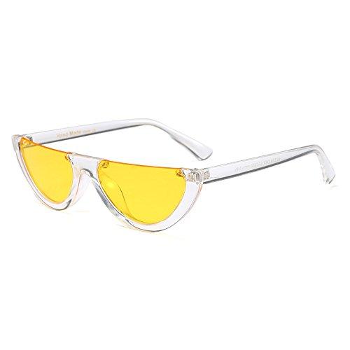 Top Moda Bastidor Gafas de de E de Gato Hombre Flat de Diseñador Marca UN anteojos Medio Gafas Sol Pequeño Mujeres Ojo Mujer Burenqi para de Sol Claro xzUOIqn