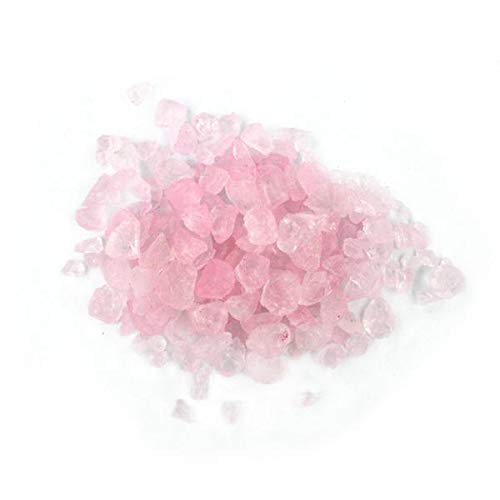- NW Wholesaler - 1 lb of Colored Glass Pebbles for Vase Fillers, Aquarium Tanks, Table Decorations, Arts and Crafts (Pink)