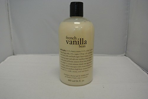 Philosophy French Vanilla Bean Shampoo, Shower Gel & Bubble