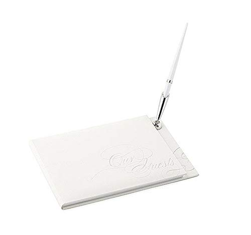 Pure Elegance Special Occasion Guest Book with Pen Set - Silver