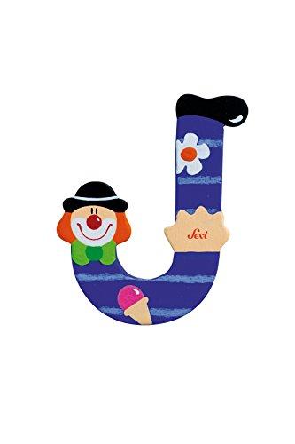 Sevi 1831 wooden toy - Graffiti - Letter J Clown (81746) (Wooden Letters Sevi)