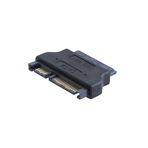 "CableCreation Micro SATA 16Pin Female to SATA 22Pin Male Adapter، SATA adaptor 22 pin SATA (Male) to 16 pin Micro SATA (Female)، 2.5 ""Sata 22Pin to 1.8"" Micro Sata Female"