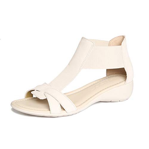 (The FLEXX Footwear Women's Band Together Off White Nubuck Sandal Size 6.5)