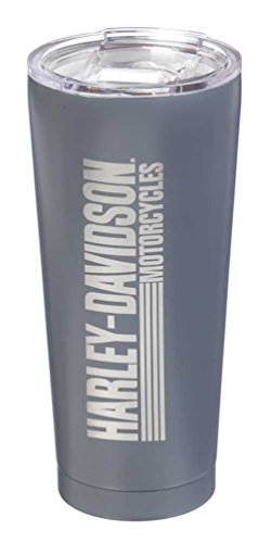 Harley-Davidson Double Wall Stainless Steel Etched Tall Tumbler, 28 oz. 3SSB4912
