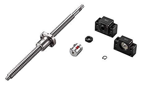 SFU2510-2700mm End Machined Ballscrew Thread for BKBF25 for CNC /& Plasma