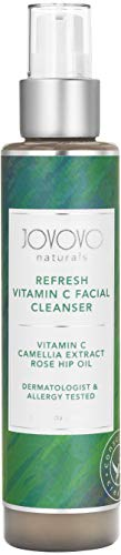Natural Vitamin C Facial Cleanser: Detoxify and Cleanser Clogged Pores | Face Wash for Oily & Dry Skin | Antioxidant Infused with Green Tea, Chamomile, & Ylang-Ylang to Calm Skin, Reduce Blemishes, Fine Lines, and Wrinkles | Cruelty Free by Jovovo Naturals