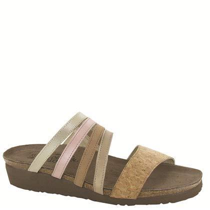 NAOT Footwear's Women's Peyton Sandal Cork Lthr/Champagne Lthr/Nude Nubuck/Pearl Rose Lthr/Gold Threads Lthr 5 M -