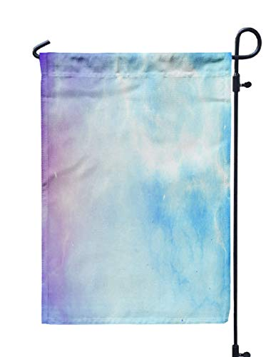 Shorping Welcome Garden Flag, 12x18Inch Holographic Dramatic Abstract