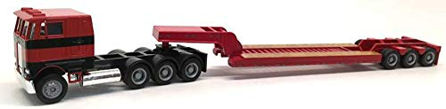 (Red) w/ 3 Axle Lowboy (Red) Scale 1:87 (HO) Model ()