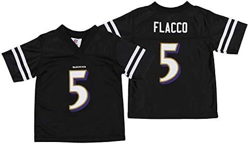 Outerstuff Baltimore Ravens Joe Flacco #5 NFL Toddlers Mesh Replica Jersey, Black